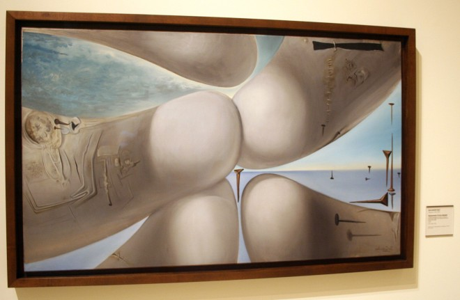 Inside the exhibit was this Dali (non-flash photography was allowed)