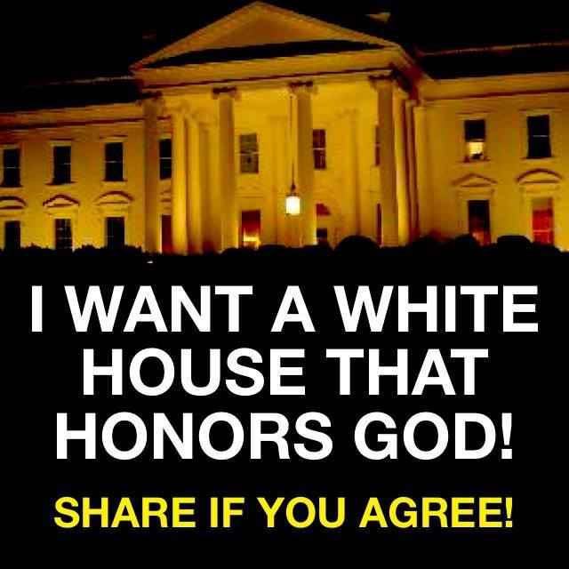 white house honors god
